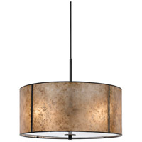 Cal Lighting FX-3565/1P Mica 2 Light 18 inch Dark Bronze Pendant Ceiling Light