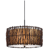Cal Lighting FX-3567/1P Twig 2 Light 18 inch Dark Bronze Pendant Ceiling Light