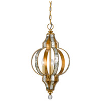 Cal Lighting FX-3574/1P Signature 3 Light 12 inch Gold Pendant Ceiling Light