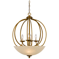 Cal Lighting FX-3579-7 Signature 7 Light 23 inch Antique Gold Pendant Ceiling Light