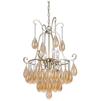 Cal Lighting FX-3591-5 Marion 5 Light 20 inch Warm Silver Chandelier Ceiling Light