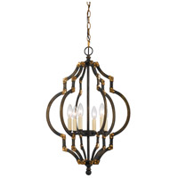 Cal Lighting FX-3593-6 Howell 6 Light 18 inch Iron and Antique Gold Pendant Ceiling Light