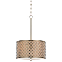 Myrtle 3 Light 18 inch Antiqued Brass Pendant Ceiling Light