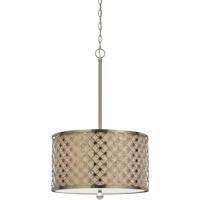 Cal Lighting FX-3596-1P Myrtle 3 Light 18 inch Antiqued Brass Pendant Ceiling Light