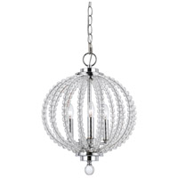 Olivia 3 Light 13 inch Chrome Pendant Ceiling Light