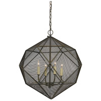 Cal Lighting FX-3603-4 Sapelo 4 Light 23 inch Wire Chandelier Ceiling Light