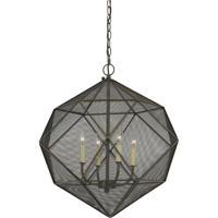 Cal Lighting FX-3603-4 Sapelo 4 Light 23 inch Wire Chandelier Ceiling Light