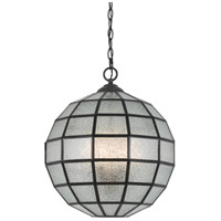 Cal Lighting Black Glass Pendants