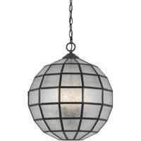 Cal Lighting FX-3607-1P Diego 3 Light 16 inch Black Pendant Ceiling Light