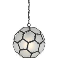 Cal Lighting FX-3608-1P Pablo 1 Light 12 inch Black Pendant Ceiling Light
