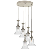 Belair 5 Light 19 inch Brushed Steel Mini Pendant Ceiling Light