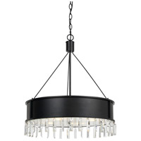 Cal Lighting FX-3611-4 Roby 4 Light 25 inch Iron Chandelier Ceiling Light