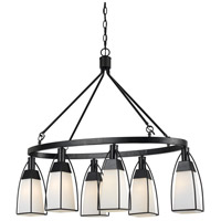 Channing 6 Light 40 inch Black Chandelier Ceiling Light