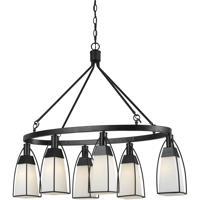 Cal Lighting FX-3612-6 Channing 6 Light 40 inch Black Chandelier Ceiling Light