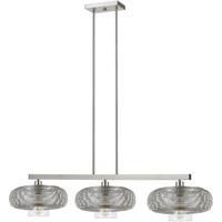 Cal Lighting FX-3613-3 Wilshire 3 Light 53 inch Brushed Steel Chandelier Ceiling Light