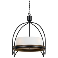 Cal Lighting FX-3614-4P Chardon 4 Light 28 inch Iron Wood Chandelier Ceiling Light