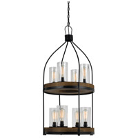 Cal Lighting FX-3614-8 Chardon 8 Light 20 inch Iron Wood Chandelier Ceiling Light