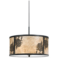 Cal Lighting FX-3615-1P Pine Cone 3 Light 18 inch Dark Bronze Chandelier Ceiling Light