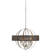 Cal Lighting FX-3622-6 Willow 6 Light 26 inch Brushed Steel Chandelier Ceiling Light