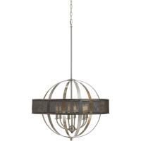 Cal Lighting FX-3622-6 Willow 6 Light 26 inch Brushed Steel Chandelier Ceiling Light