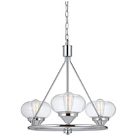 Cal Lighting FX-3624-3 Maywood 3 Light 24 inch Chrome Chandelier Ceiling Light