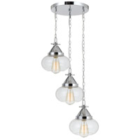 Maywood 3 Light 17 inch Chrome Pendant Ceiling Light