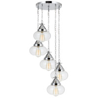 Maywood 5 Light 20 inch Chrome Pendant Ceiling Light