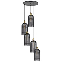 Birdcage 5 Light 20 inch Black Iron Pendant Ceiling Light