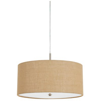 Addison 3 Light 18 inch Brushed Steel Pendant Ceiling Light