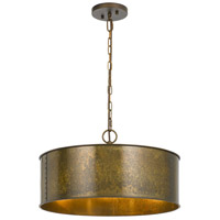Cal Lighting FX-3637-3 Rochefort 3 Light 20 inch Distress Gold Chandelier Ceiling Light
