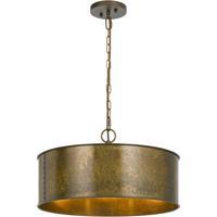 Cal Lighting FX-3637-3 Rochefort 3 Light 20 inch Distress Gold Chandelier Ceiling Light