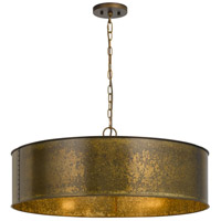 Rochefort 5 Light 30 inch Distress Gold Chandelier Ceiling Light