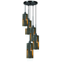 Cal Lighting FX-3641-5 Reggio 5 Light 6 inch Wood and Black Chandelier Ceiling Light