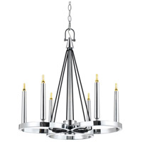 Cal Lighting FX-3642-6 Rimini LED 22 inch Chrome Chandelier Ceiling Light