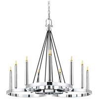 Cal Lighting FX-3642-9 Rimini LED 31 inch Chrome Chandelier Ceiling Light