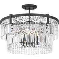 Cal Lighting FX-3647-5 Murdo 5 Light 20 inch Black Chandelier Ceiling Light Dual Function