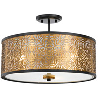Cal Lighting FX-3649-3 Tyndall 3 Light 18 inch Antique Gold Chandelier Ceiling Light Dual Function