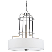 Cal Lighting FX-3652-4 Transformer 4 Light 24 inch Brushed Steel Chandelier Ceiling Light