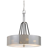 Cal Lighting FX-3655-4A George 4 Light 24 inch Chrome and Black Chandelier Ceiling Light