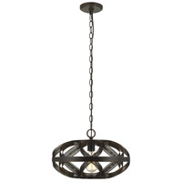 Cal Lighting FX-3659-1 Alma 1 Light 16 inch Dark Bronze Chandelier Ceiling Light