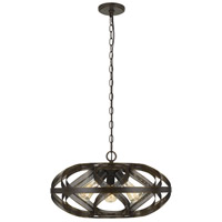 Cal Lighting FX-3659-3 Alma 3 Light 22 inch Dark Bronze Chandelier Ceiling Light