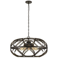 Alma 5 Light Dark Bronze Chandelier Ceiling Light