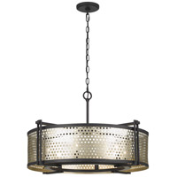 Cal Lighting FX-3660-6 Howell 6 Light 28 inch Antique Silver and Iron Chandelier Ceiling Light