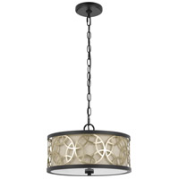 Carmel 2 Light 15 inch Rust and Antique Brass Chandelier Ceiling Light, Convertible to Semi-Flush