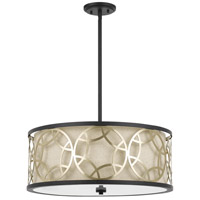 Cal Lighting FX-3661-4 Carmel 4 Light 22 inch Rust and Antique Brass Chandelier Ceiling Light