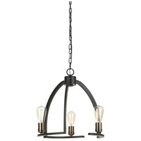 Cal Lighting FX-3664-3 Kinder 3 Light 19 inch Dark Bronze Chandelier Ceiling Light