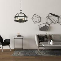 Cal Lighting FX-3666-4 Granada 4 Light 22 inch Iron Chandelier Ceiling Light Circular