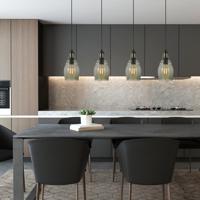 Cal Lighting FX-3675-1 Teramo 1 Light 6 inch Smoky Glass Pendant Ceiling Light