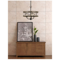 Modica 3 Light 16 inch Distress Ivory and Iron Pendant Ceiling Light, Convertible