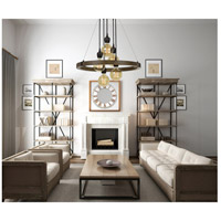 Cal Lighting FX-3687-5 Martos 5 Light 26 inch Pine and Iron Chandelier Ceiling Light alternative photo thumbnail